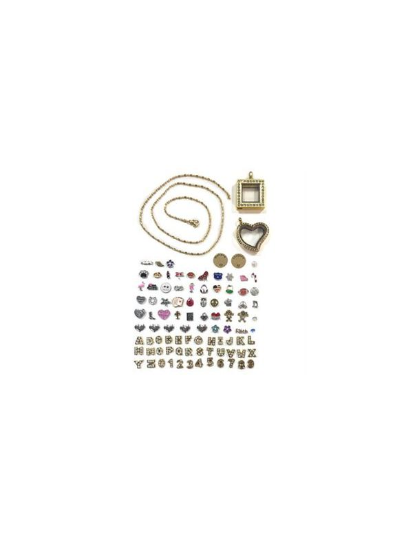 Gold Lockets and Charms Set - While Supplies Last!