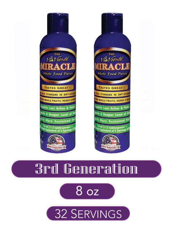 ViaViente Miracle   8oz   Bottle  2 pack