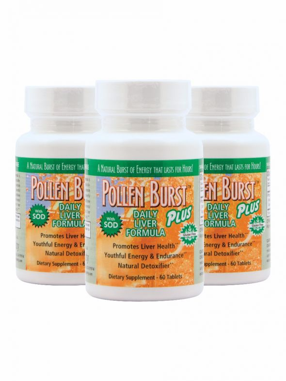 Pollen Burst™ Plus - Daily Liver Formula - 60 tablets (3 Pack)